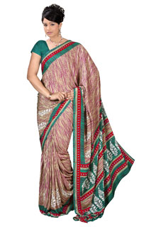 Multicoloring Bollywood Traditional Print Printed Saree