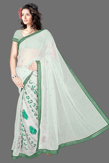 GOOGLE G  Heavy embroidered Net Exclusive Bollywood Saree.