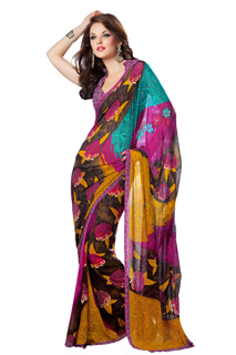 Printed Saree, Designer Indian Saree,Latest New Style Fancy Saree