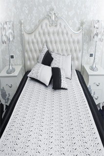 Latest Black and White Embroidered Bedsheet