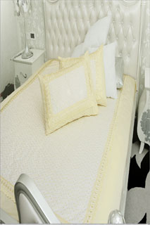 Lime Yellow Embroidered Bedsheet
