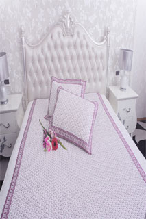 Mauve Embroidered Bedsheet