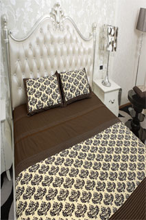 Chocolate and Cream Printed Bedsheet